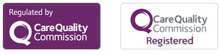 Regulated & Registered by the Care Quality Commission Logos
